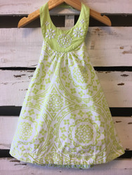 Gymboree Lime Green Paisley Halter Dress