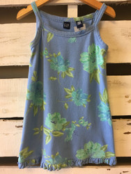 Gap Blue Floral Cotton Dress