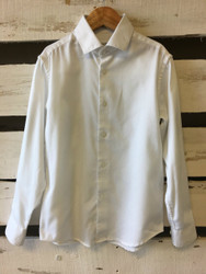 Calvin Klein Sateen White Button Up Shirt