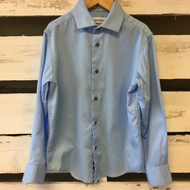 Calvin Klein Light Blue Sateen Button Up Shirt