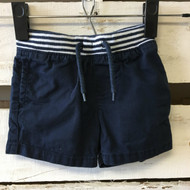 Baby Gap Navy Nautical Banded Shorts