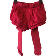 Baby Gap Red Shorts & Leggings Combo Set