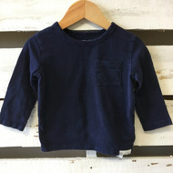 Baby Gap Navy Blue Pocket Shirt