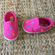 Polo by Ralph Lauren Pink Canvas Slides