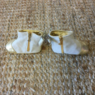 Juicy Couture Gold Shimmer & Suede Booties