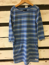 Gap Kids Blue Striped Long Sleeve Dress