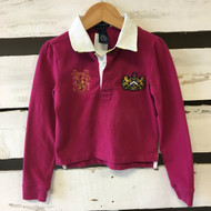 Ralph Lauren Plum Long Sleeved Polo Shirt