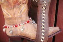Boot Candy Rodeo Red Crystals and Hearts