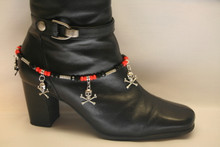 Boot Candy Biker  Harley Colors with Skull & Cross Bones
