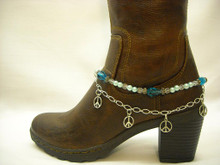 Boot Candy Sapphire Crystals, Pearls and Peace