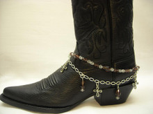 Boot Candy Amethyst Crystals and Crosses