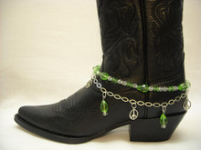 Boot Candy Lt. Peridot Crystals and Peace