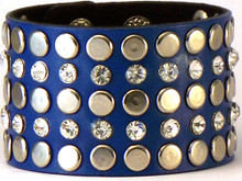 Blue Large Western Bling Bracelet