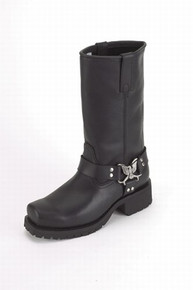 Ladies Biker Boot w/ Eagle at Ankle