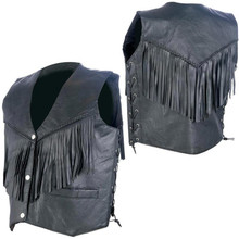 Ladies Vest with Fringe and Side Laces