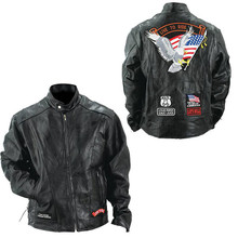 Mens Live to Ride Euro Motorcycle Jacket