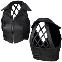 Ladies CrossHatch Genuine Leather Vest