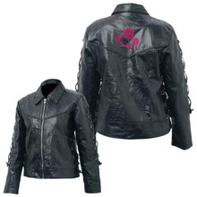 Ladies Buffalo Rose motorcycle jacket