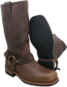 Mens Dark Brown Crushed Super Harness Boots