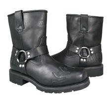 Advanced 10 Inch Harness Black Flame Motorcycle Boots