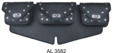 3 Pocket Windshield Bag Studded