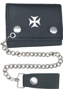 "4"" Trifold wallet with chain Chopper Cross"