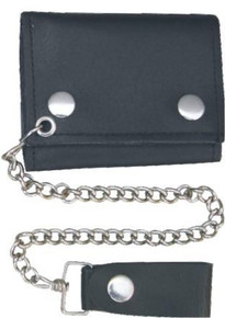 "4""  Tri-Fold wallet with chain"