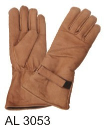 Brown Riding gloves lightly lined with Velcro strap
