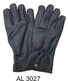 Full finger plain gloves with elastic wrist & snap closure