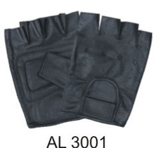 Fingerless gloves vented back premium sheepskin,padded palm and velcro strap.