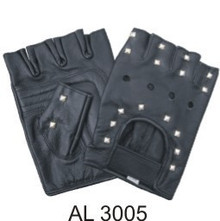 Fingerless gloves with Studded and Velcro strap.