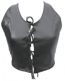 Ladies top with Laces on the front (Lambskin) AL2868