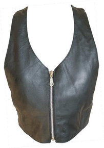 Ladies top with zippered front (Lambskin)