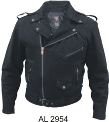 Men's Basic Motorcycle Jackets 14 oz. Black Denim