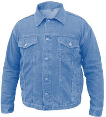 Men's Blue Denim jackets 100% Cotton