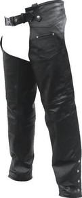 Buffalo Leather Plain Chaps, Lined,  with Laces on the Rear of the Thighs