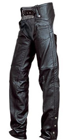 Split Cowhide, Plain Chaps,  with Silver Hardware