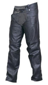 Plain Buffalo Leather Lined Chaps
