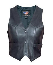 Ladies Basic Plain Sides Vest Cowhide