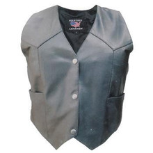 Ladies Basic plain vest (Lambskin)