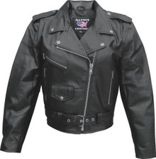 Ladies Basic Motorcycle Jacket Split Cowhide.