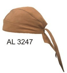 Brown Plain Skull Cap, Buffalo Leather