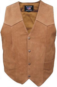 Men's Basic Plain Vest in Brown