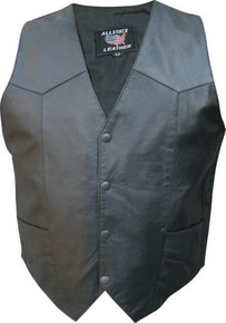 Mens Basic  Split Cowhide Vest