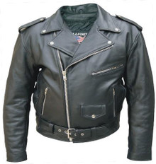 Mens Buffalo Leather Jacket