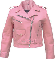 Ladies Pink Motorcycle Jacket AL2120