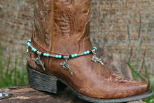 Boot Candy Guns and Roses with Turquoise Beads
