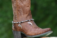 Boot Candy Guns and Roses with Gun Metal Gray Pearls