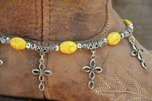 Boot Candy Yellow Ovals with Oval Design Crosses