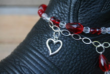 Boot Candy Red Crystals and Hearts
